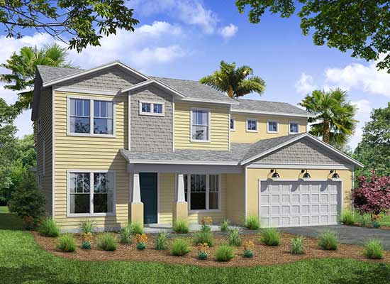 The Ortega Model Home from TerraWise Homes of Jacksonville Florida.