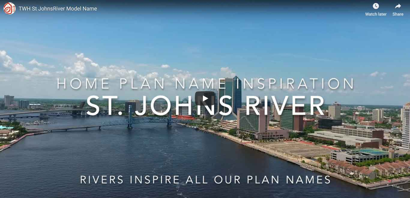 The St. Johns River is the inspiration for all of our TerraWise Homes floorplans.