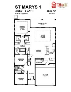 The St. Marys Model Floorplan Net Zero Energy Home from TerraWise Homes.