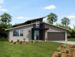 The Wekiva Modern Next-Zen Elevation from TerraWise Homes.