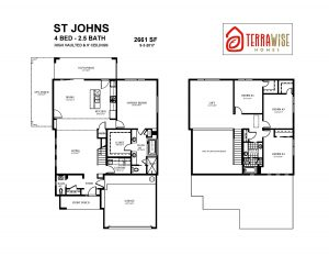 The St. Johns Floorplan from TerraWise Homes