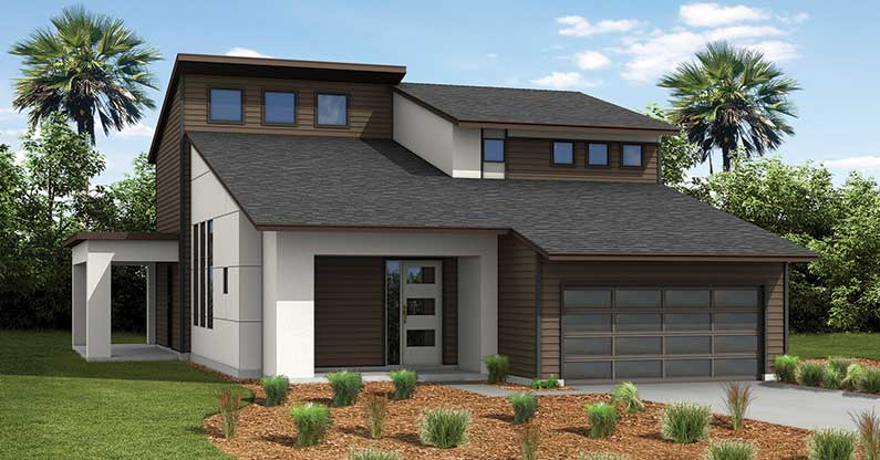 St. Johns Modern Rendering TerraWise Homes