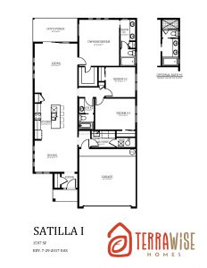 Satilla Floorplan from TerraWise Homes of Jacksonville, Florida