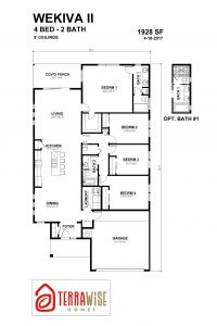 Wekiva II Floorplan from TerraWise Homes of Jacksonville, Florida
