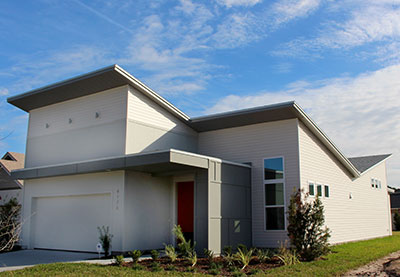 Satilla Butterfly Roof Front TerraWise Homes