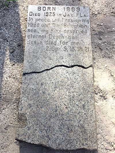 Springfield Historic Gravestone Found by TerraWise Homes