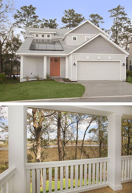 St. Johns Craftsman CedarBay Front Elev &Porch TerraWiseHomes