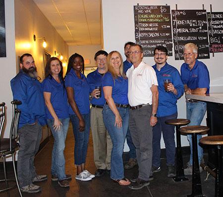 TerraWise Team Taps Terra-Weisse Hyperion Brewery Beer