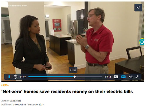 First Coast News Net-Zero Energy Solar Powered Homes TerraWise Story