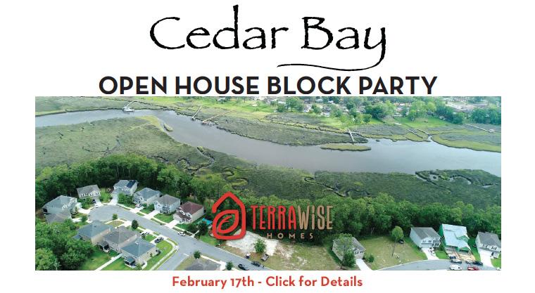 Cedar Bay Block Party Flyer TerraWise Homes
