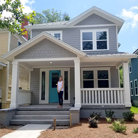 Liz Alicea on Porch TerraWise Springfield Home