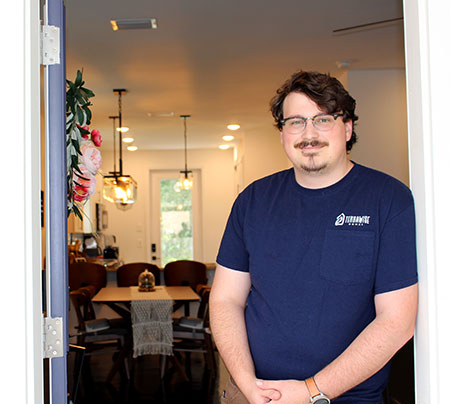 Jac Shacter at his TerraWise Home in historic Springfield