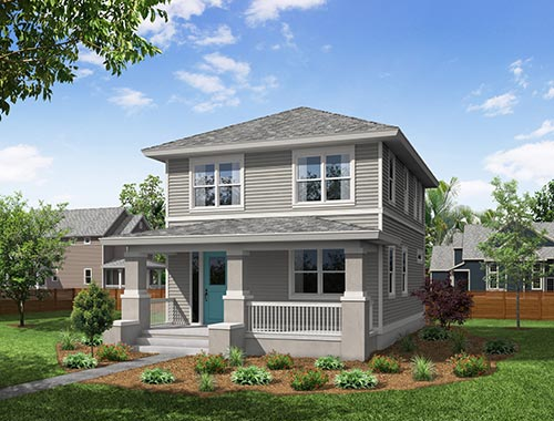 Carrabelle Front Elevation Springfield TerraWise Homes