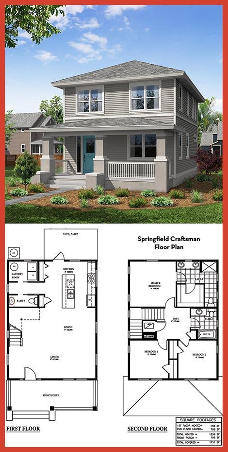 TerraWise Craftsman Style Plan