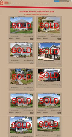 Sold Homes On TerraWise Website