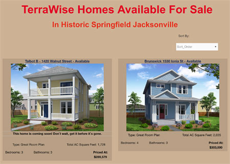 TerraWise quick move homes available in Springfield