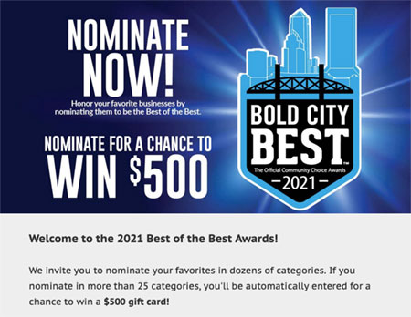 Florida Times Union Bold City Best of Best Nominations Link